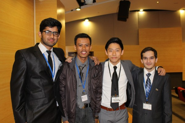 Waleed and members of his team.