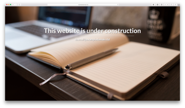 The Under Construction Site Template