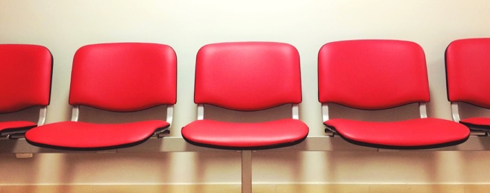 A photo of waiting room chairs