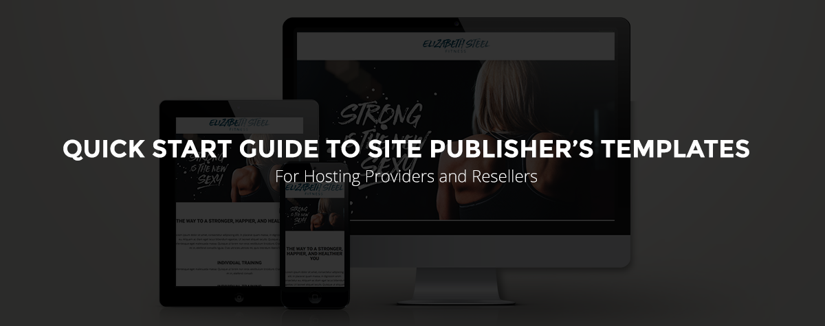 quick start guide to site publisher templates for hosting