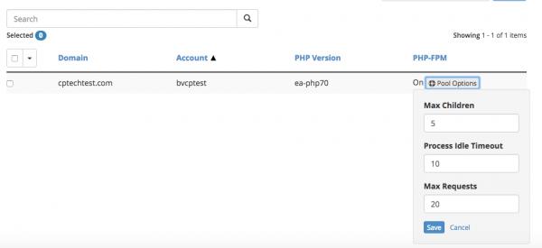PHP-FPM pool options