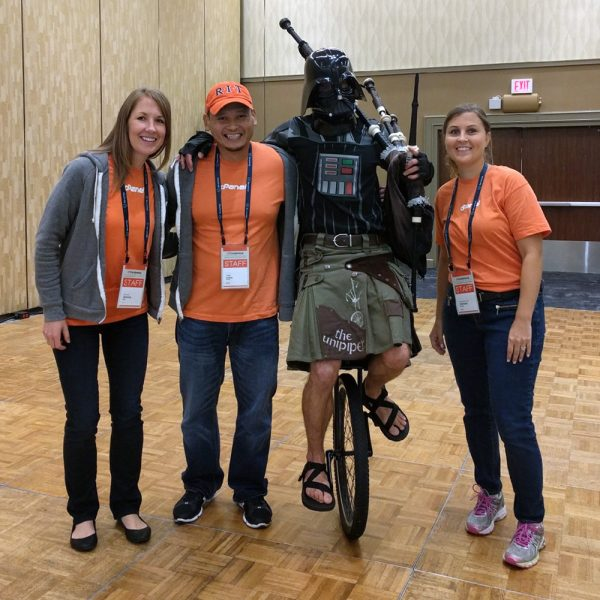 The Unipiper hanging out at cPanel Conference