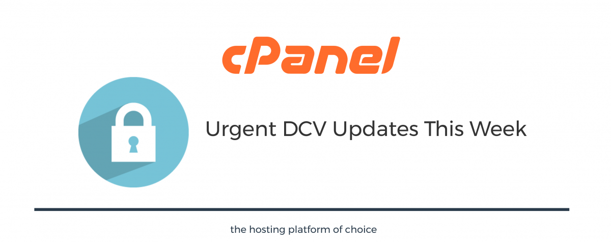 Urgent DCV Updates