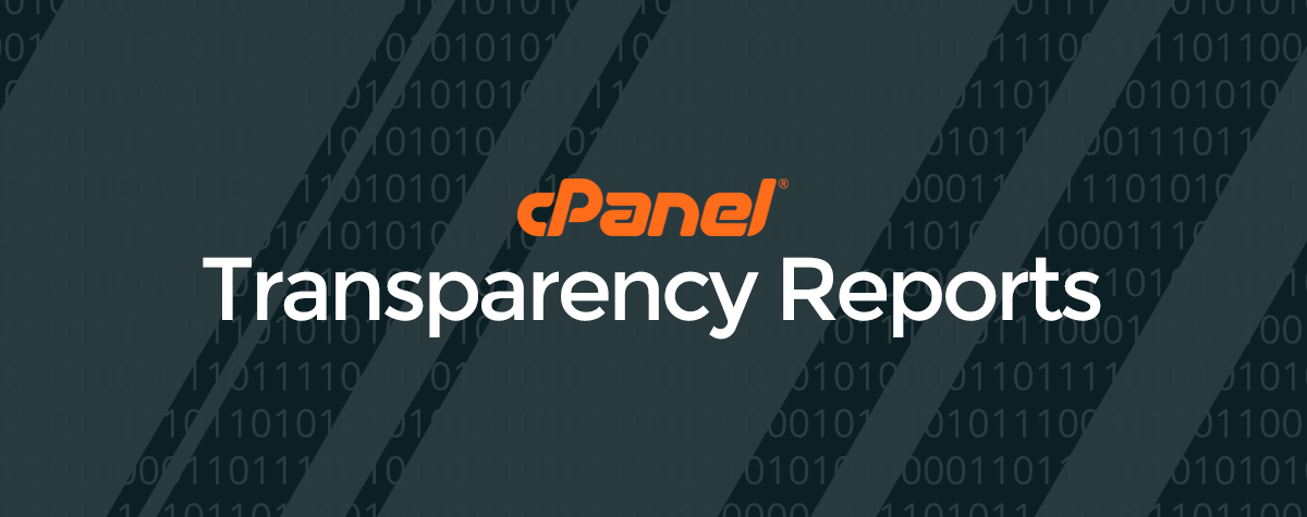 cPanel Transparency 2018