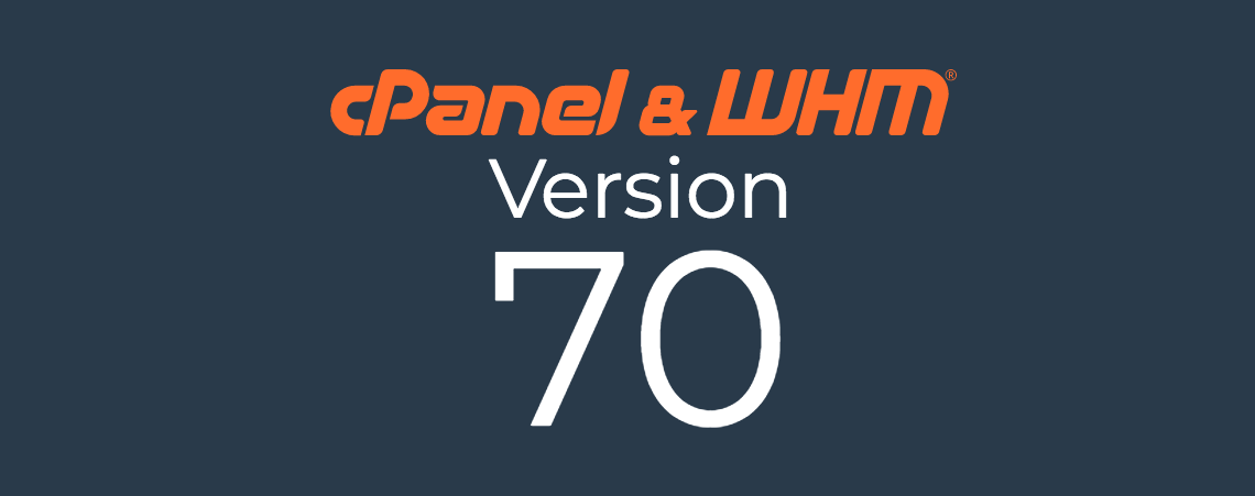 cPanel Version 70