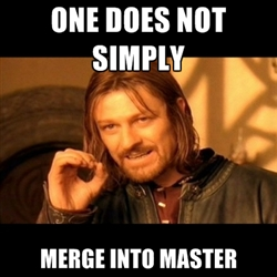One Does Not Simply Merge Into Master - meme