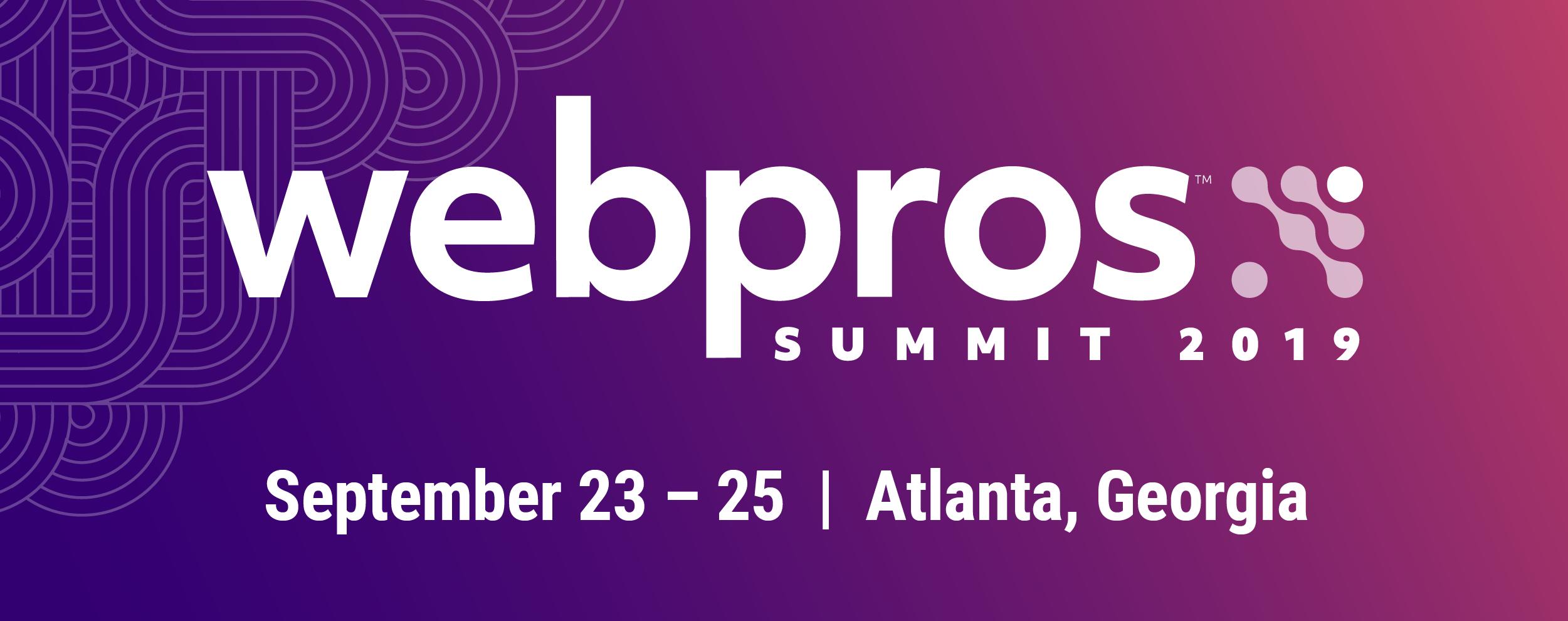 WebPros Summit 2019