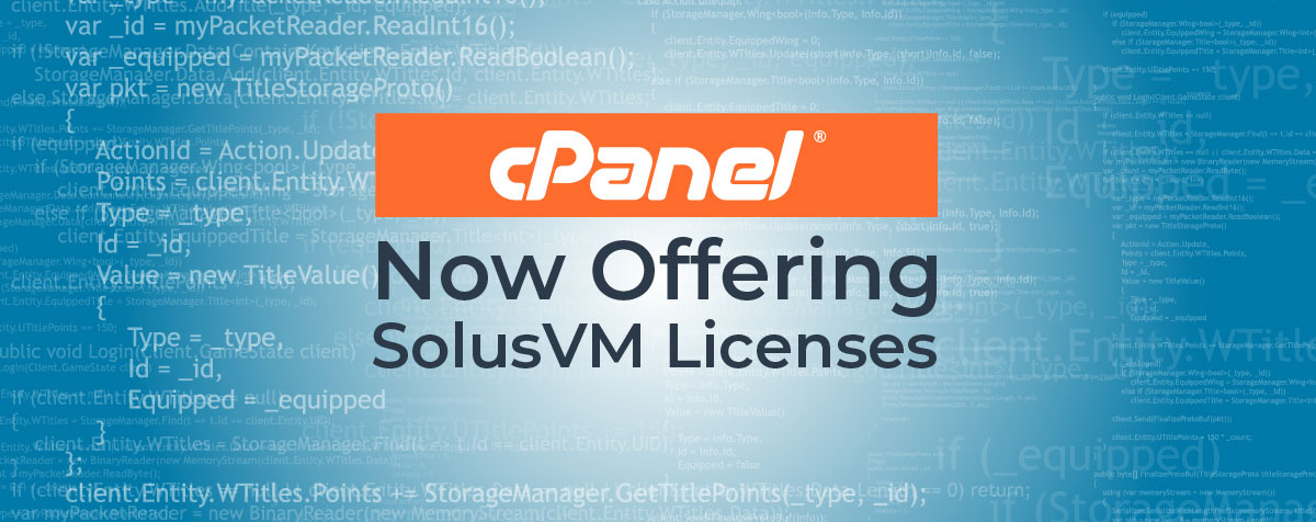 cPanel now offering SolusVM licenses