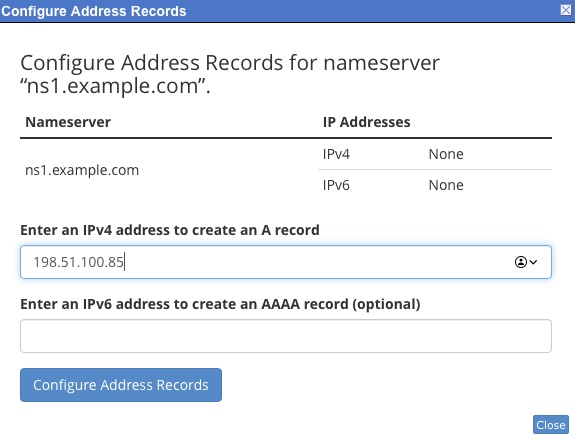 How to configure DNS Name Servers using cPanel?