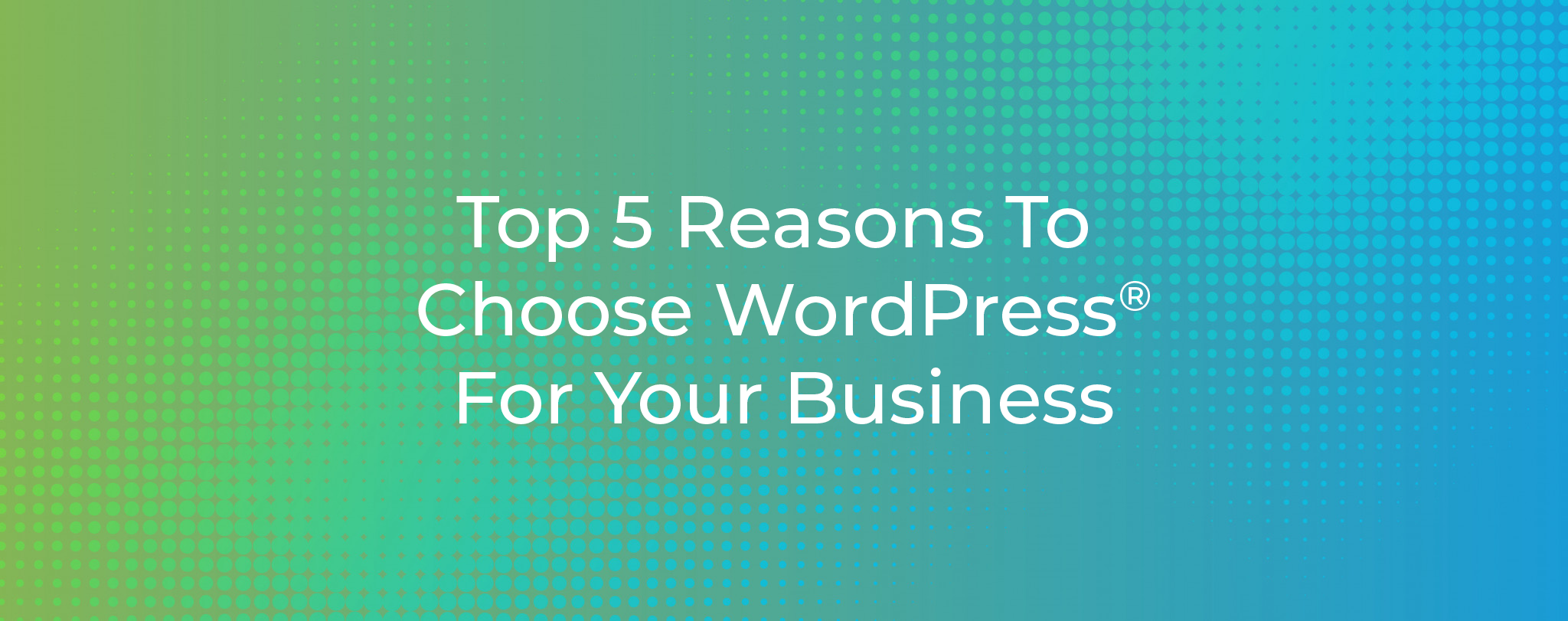 Top 5 Reasons To Choose WordPress For Your Business